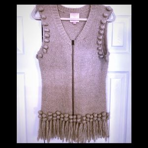 Romeo & Juliet fringe sweater vest sz Large